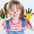 kolory · dziewczyna · twarz · palmy · pokryty - zdjęcia stock © pressmaster