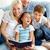 bonheur · portrait · famille · heureuse · deux · enfants · regarder - photo stock © pressmaster