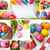 Pasen · collage · eieren · gekleurd · lentebloemen · decoraties - stockfoto © pressmaster