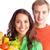 boldog · pár · egészséges · étkezés · néz · kamera · család - stock fotó © pressmaster