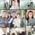 gens · d'affaires · collage · différent · bureau · affaires · homme - photo stock © pressmaster