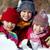amigos · nieve · feliz · jugando · nina · retrato - foto stock © pressmaster