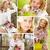 красивая · женщина · коллаж · молодые · женщину · цветы - Сток-фото © pressmaster