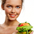 kız · meyve · Burger · portre · güzel · genç · kız - stok fotoğraf © pressmaster