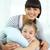 счастливым · ребенка · матери · глядя · камеры · улыбается - Сток-фото © pressmaster