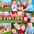 famille · quatre · herbe · bébé · femmes - photo stock © pressmaster