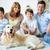 rodziny · psa · portret · szczęśliwą · rodzinę · domowych · człowiek - zdjęcia stock © pressmaster