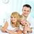 Zuneigung · Porträt · glücklich · Eltern · Tochter · schauen - stock foto © pressmaster
