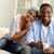 unité · image · jeunes · africaine · couple · regarder - photo stock © pressmaster