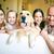 szczęśliwą · rodzinę · uśmiechnięty · kamery · psa · drzewo - zdjęcia stock © pressmaster