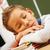 мальчика · спальный · классе · книгах · столе · книга - Сток-фото © pressmaster
