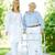 senior · patiënt · mooie · verzorger · lopen · buiten - stockfoto © pressmaster