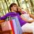 pár · fiatalok · vásárlás · központ · divat · sétál - stock fotó © pressmaster