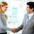 portret · szczęśliwy · drżenie · rąk · spotkanie - zdjęcia stock © pressmaster