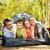 família · feliz · camping · trio · tenda · mulher - foto stock © pressmaster