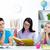 nauczyciel · czytania · studentów · książki · młodych · klasie - zdjęcia stock © pressmaster
