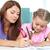 Zeichnung · mom · Mutter · Tochter · Zeit · zusammen - stock foto © pressmaster