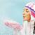 kar · portre · genç · kadın · avuç · içi - stok fotoğraf © pressmaster