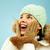 şaşırmış · kız · kış · şapka · eldiven - stok fotoğraf © pressmaster