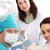歯科 · アシスタント · 患者 · 見える · カメラ · 笑みを浮かべて - ストックフォト © pressmaster