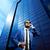 vertical · imagem · sorridente · barbudo · homem · óculos · de · sol - foto stock © pressmaster