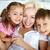 madre · ninos · retrato · familia · feliz · tres · mirando - foto stock © pressmaster