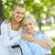 szczęśliwy · pielęgniarki · starszych · pacjenta · trzymając · się · za · ręce · posiedzenia - zdjęcia stock © pressmaster