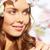 primavera · rostro · primer · plano · imagen · nina · justo - foto stock © pressmaster