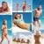 nyár · nyaralások · kollázs · képek · emberek · tengerpart - stock fotó © pressmaster