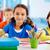 детей · обучения · школьницы · вместе - Сток-фото © pressmaster