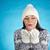 mutlu · kadın · beyaz · kazak · avuç · içi - stok fotoğraf © pressmaster