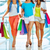 Shopping · deux · belle · heureux · jeunes · femmes · ville - photo stock © pressmaster