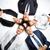 Бизнес-партнеры · high · five · мужчины · женщины · деловые · люди - Сток-фото © pressmaster