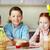 kardeşler · Paskalya · portre · üç · gülen · çocuklar - stok fotoğraf © pressmaster