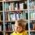 cute · jongen · lezing · boek · bibliotheek · weinig - stockfoto © pressmaster