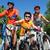 Reiten · Fahrräder · Silhouetten · glücklich · Paar · Dehnung - stock foto © pressmaster