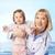 enfermeira · bebê · cuidar · em · pé · proteção - foto stock © pressmaster