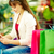 alışveriş · bayan · renkli · çanta · sarışın - stok fotoğraf © pressmaster
