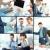 travail · de · bureau · collage · équipe · commerciale · trois · planification · travaux - photo stock © pressmaster