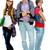 adolescente · moda · três · adolescentes · casual · roupa - foto stock © pressmaster