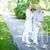 patiënt · mooie · verzorger · lopen · uit · senior - stockfoto © pressmaster