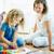 kleuterschool · kinderen · schilderij · papier · verf · kunst - stockfoto © pressmaster