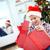 bonitinho · menino · grande · natal · apresentar · pequeno - foto stock © pressmaster