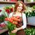 florista · esquina · retrato · jóvenes · femenino · grande - foto stock © pressmaster