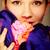 женщины · цветок · великолепный · женщину · глядя · камеры - Сток-фото © pressmaster