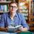 portre · adam · kütüphane · erkek · kitap - stok fotoğraf © pressmaster