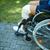 mão · roda · cadeira · de · rodas · inválido · pessoa - foto stock © pressmaster