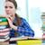frustrado · estudiante · exámenes · enojado · estilo · de · vida · nina - foto stock © pressmaster