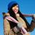 mutlu · kız · portre · sağlıklı · kadın · kış · elbise - stok fotoğraf © pressmaster
