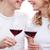 retrato · sorridente · casal · vinho · tinto · óculos - foto stock © pressmaster
